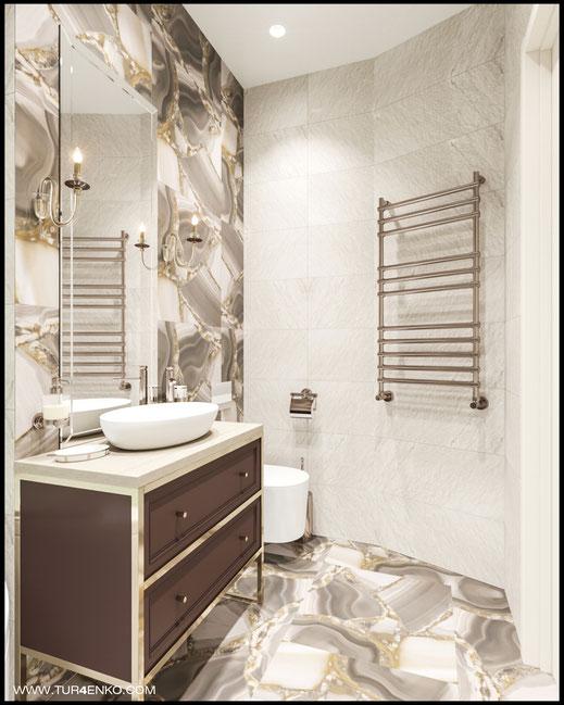 """дизайн  ванной в ЖК """"Велтон парк"""" www.tur4enko.com"""