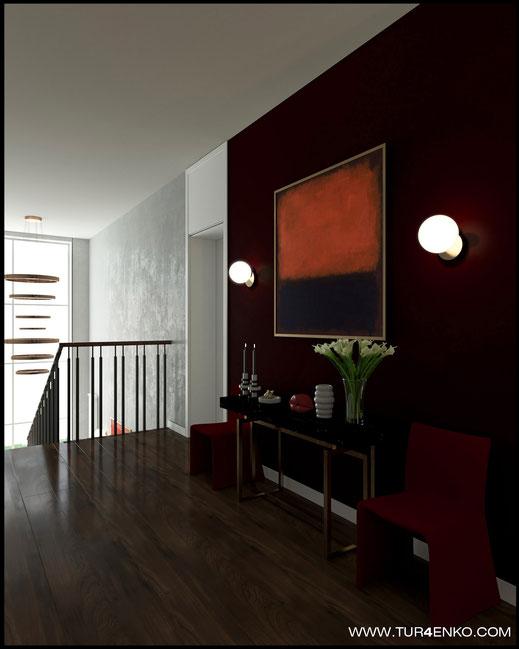 дизайн лестницы в жилом доме в КП Чистые пруды 89163172980