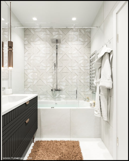 дизайн ванной комнаты в ЖК Летний сад 89163172980 www.tur4enko.com
