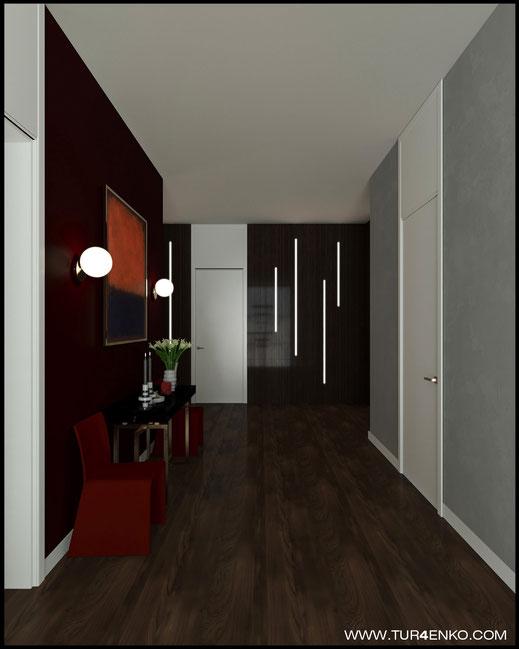 дизайн холла в жилом доме в КП Чистые пруды 89163172980