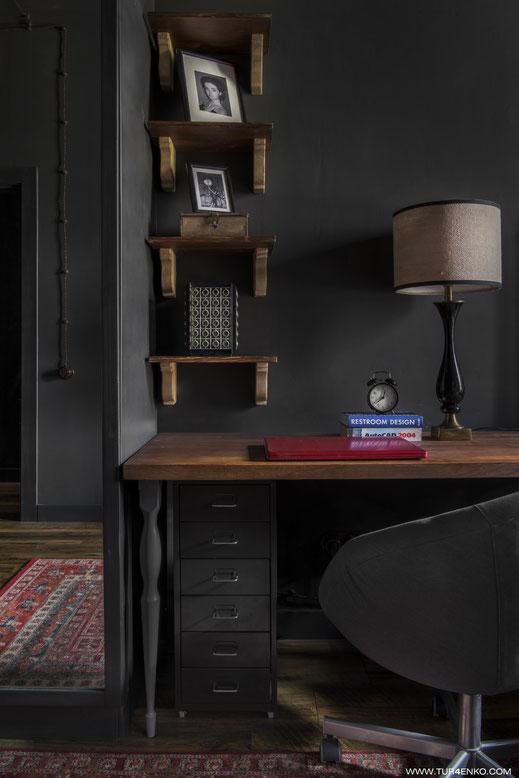 идеи для рабочего места в небольшой квартире в стиле лофт  89163172980
