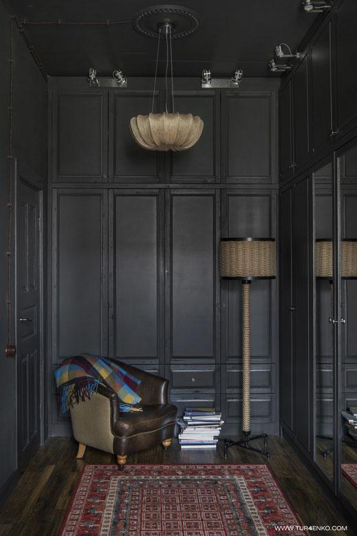 дизайн квартиры в темных тонах Москва  89163172980
