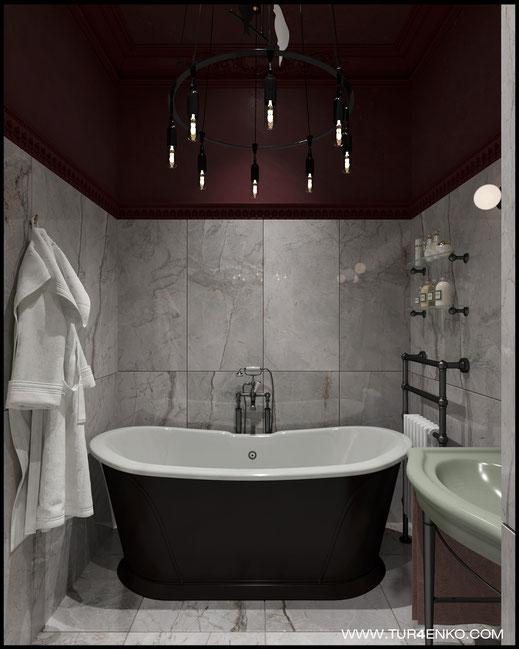 """дизайн ванной в ЖК """"Символ"""" от Донстрой   89163172980"""