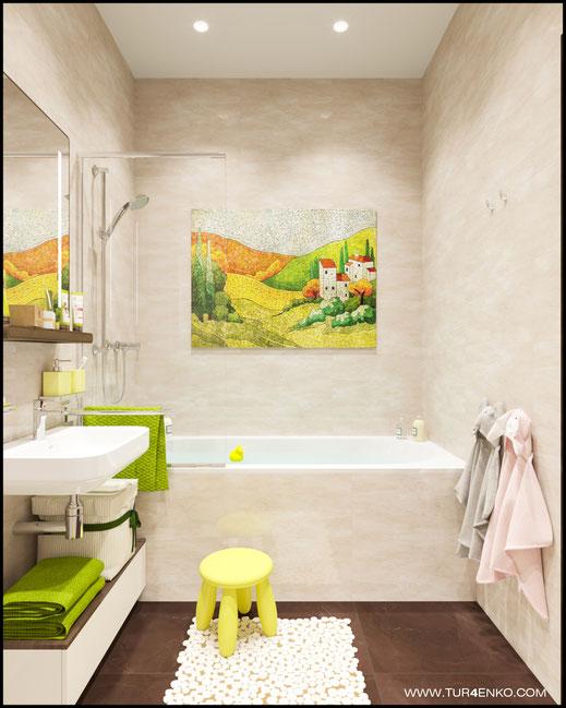 дизайн ванной комнаты в ЖК ЛАЙФ Кутузовский 89163172980