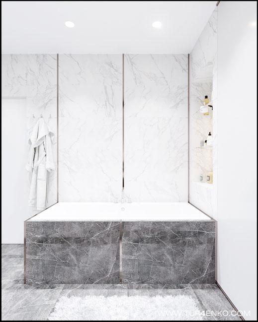 дизайн мастер ванной в ЖК Триколор 89163172980