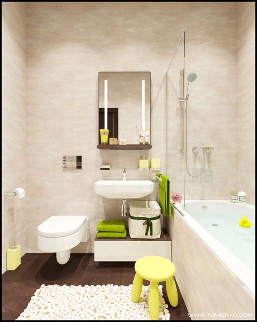 интерьер ванной комнаты в ЖК ЛАЙФ Кутузовский 89163172980