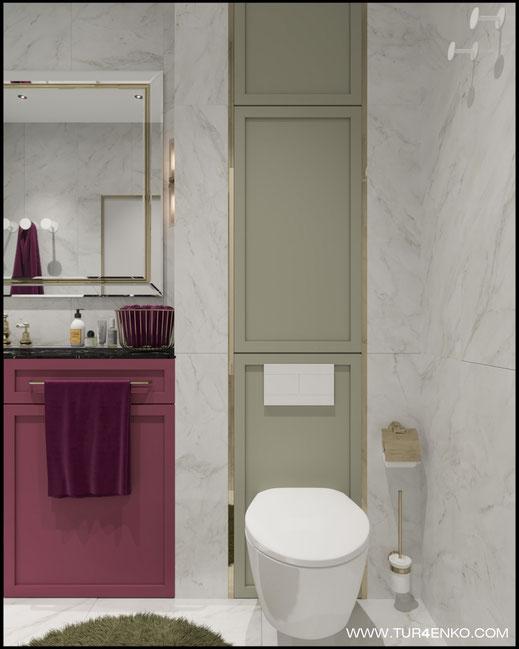 """дизайн ванной в современном стиле в ЖК """"Зеленоград сити"""" 89163172980"""