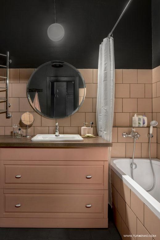 дизайн ванной в розовых тонах 89163172980