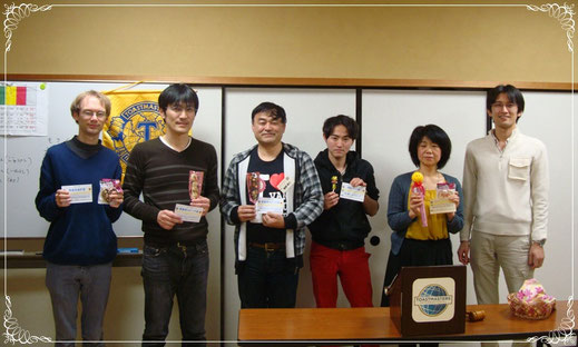 第55回市川スマイルトーストマスターズクラブ 受賞者