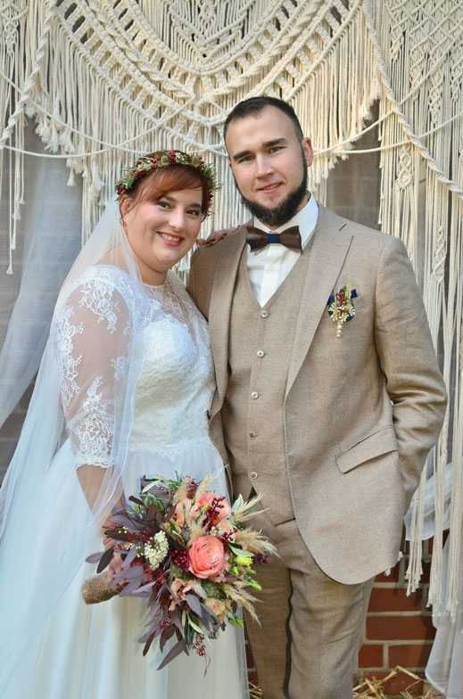 Boho Hochzeit im eigenen Garten