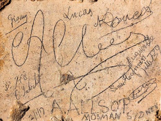 Graffiti of Allsop © Gilles Prilaux, archaeologist Somme-Patrimoine