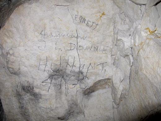 Graffiti de Hunt © Gilles Prilaux, archéologue Somme-Patrimoine