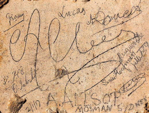 Graffiti de Allsop © Gilles Prilaux, archéologue Somme-Patrimoine
