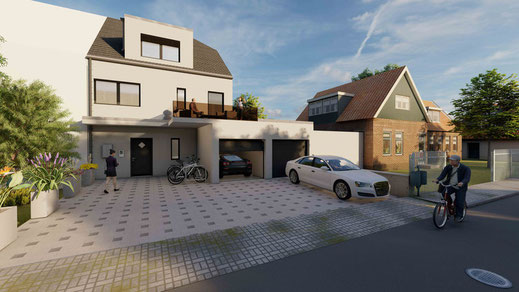3D Doppelhaushälftevisualisierung