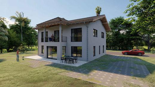 3D Einfamilienhaus Visualisierung