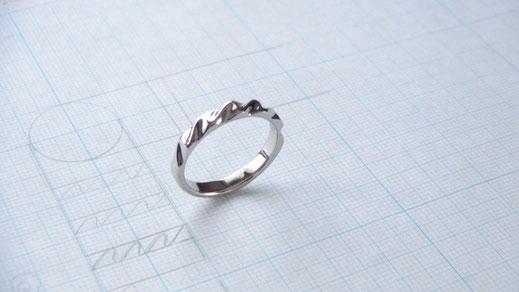 N様の手作り結婚指輪