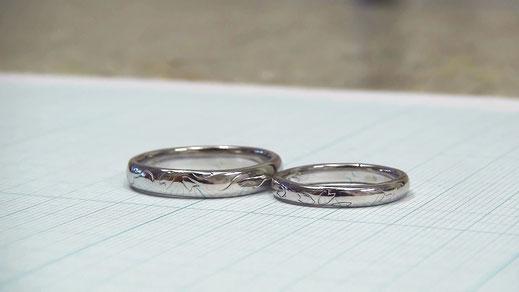 桜の花びら手作り結婚指輪