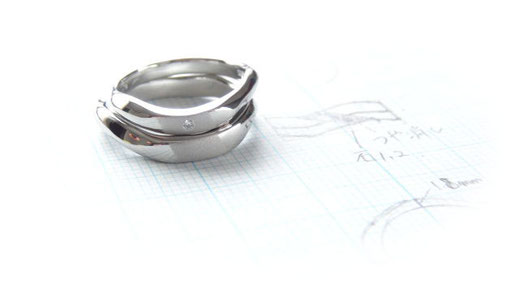 Pt900手作り結婚指輪