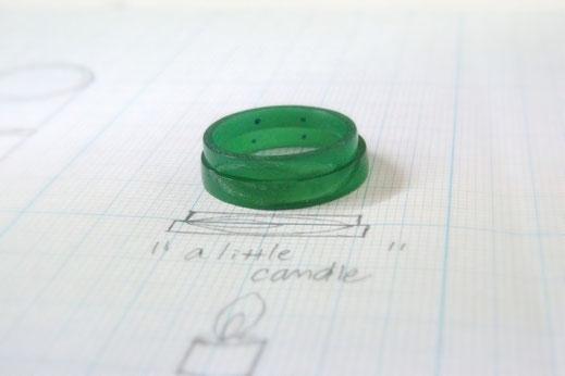 スマイル誕生石結婚指輪