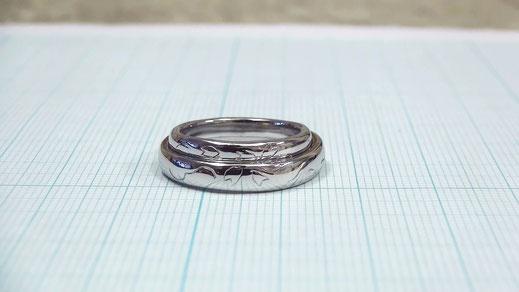 Pt900手作り結婚指輪「さくら」