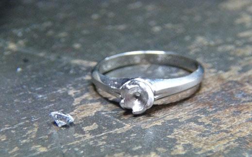 ダイヤモンドの台座をリフォーム