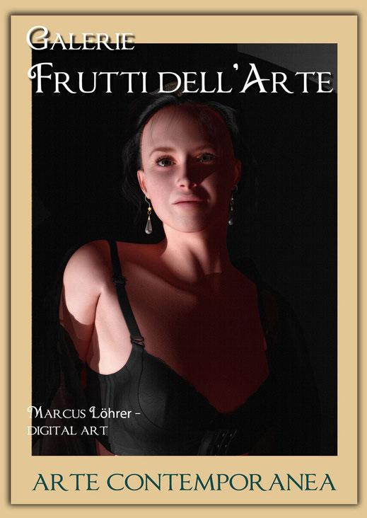 Plakatdesigen Entwurf Portrait 5 für die Galerie Frutti dell'Arte auf der Aachener Kunstroute 2016