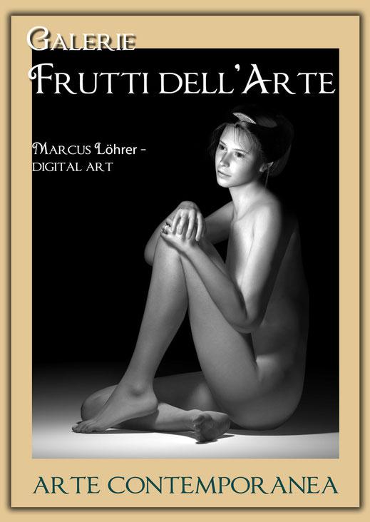 Plakatdesigen Entwurf Akt für die Galerie Frutti dell'Arte auf der Aachener Kunstroute 2016