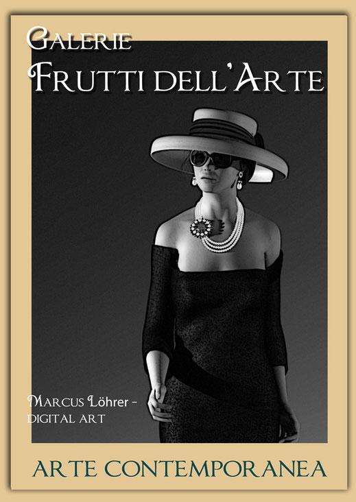 Kunst Mode Tiffany in der Galerie Frutti dell'Arte während der Aachener Kunstroute 2016 am 23., 24. und 25. September und in der Ausstellung Spektrum in der Aula Carolina