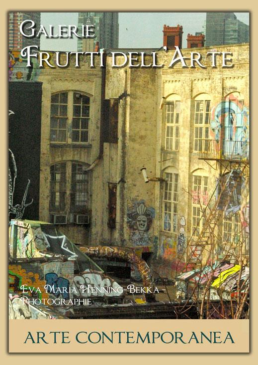 Nuit debout ist der Titel dieses Bildes auf einem Plakat zur Aachener Kunstroute 2016 von eva maria Henning-Bekka