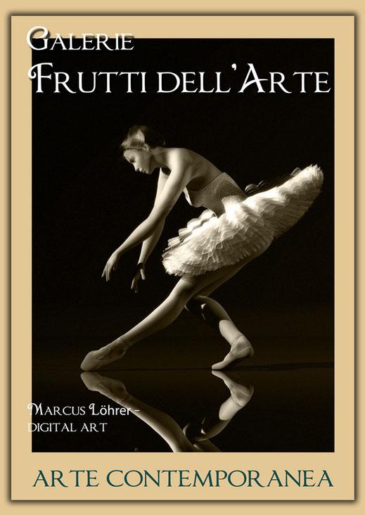 Plakatdesigen Entwurf Ballet für die Galerie Frutti dell'Arte auf der Aachener Kunstroute 2016
