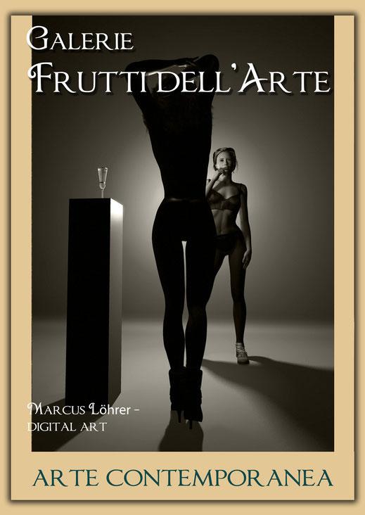 Plakatdesigen Entwurf due für die Galerie Frutti dell'Arte auf der Aachener Kunstroute 2016