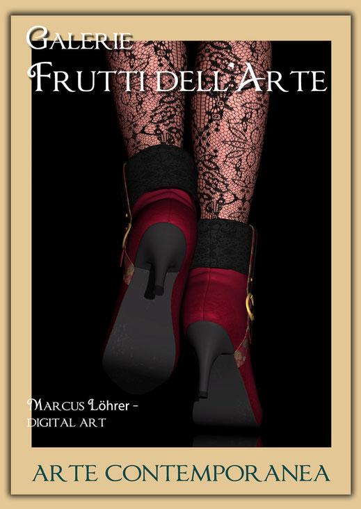 Kunst Mode Boots in der Galerie Frutti dell'Arte während der Aachener Kunstroute 2016 am 23., 24. und 25. September und in der Ausstellung Spektrum in der Aula Carolina