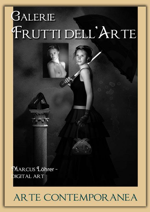 Plakatdesigen Entwurf Katholizismus für die Galerie Frutti dell'Arte auf der Aachener Kunstroute 2016
