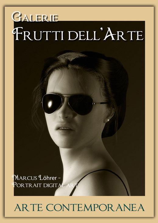 Plakatdesigen Entwurf Portrait 6 für die Galerie Frutti dell'Arte auf der Aachener Kunstroute 2016