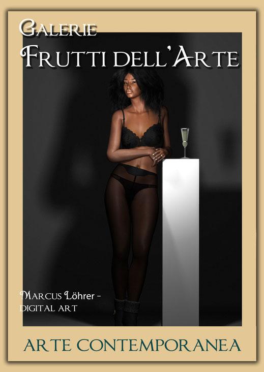Plakatdesigen Entwurf Säule für die Galerie Frutti dell'Arte auf der Aachener Kunstroute 2016