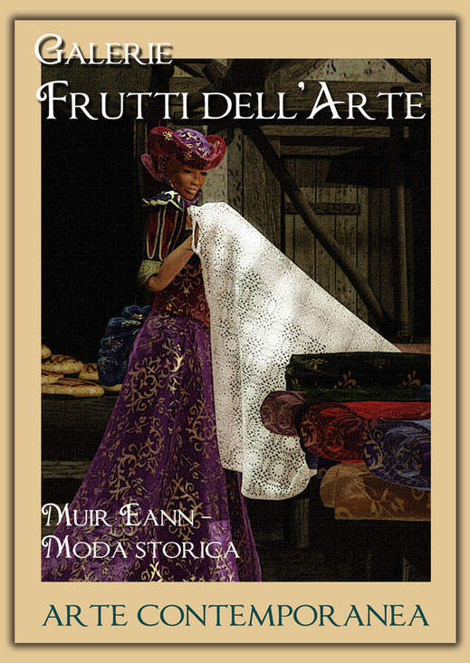 Kunst Mode Stoffe in der Galerie Frutti dell'Arte während der Aachener Kunstroute 2016 am 23., 24. und 25. September und in der Ausstellung Spektrum in der Aula Carolina