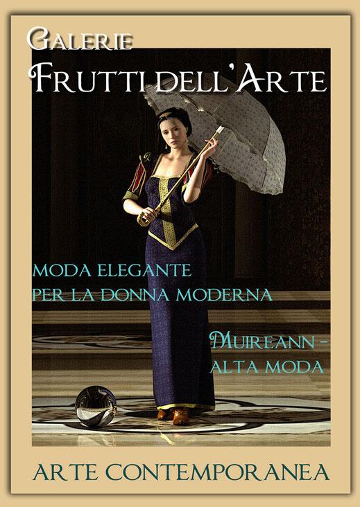 Kunst Mode Schirm in der Galerie Frutti dell'Arte während der Aachener Kunstroute 2016 am 23., 24. und 25. September und in der Ausstellung Spektrum in der Aula Carolina