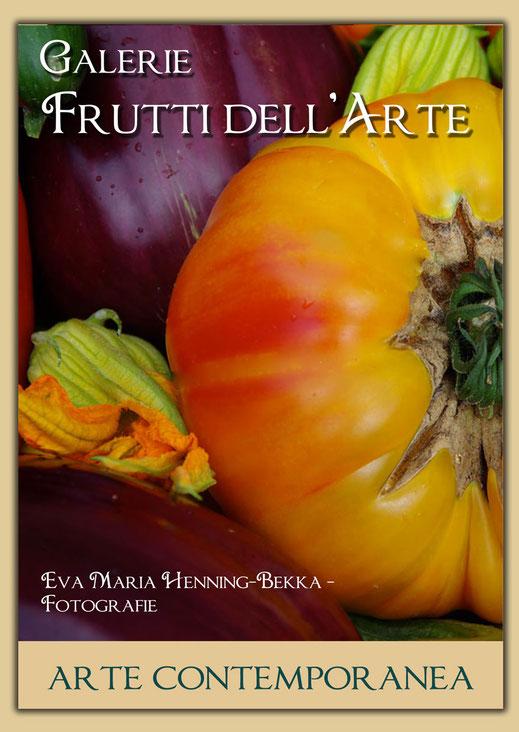 1-kg-Tomate-ananas---jaune,-orange-et-rouge in einem Plakatentwurf mit einem Motiv von Henning-Bekka zur Aachener Kunstroute 2016
