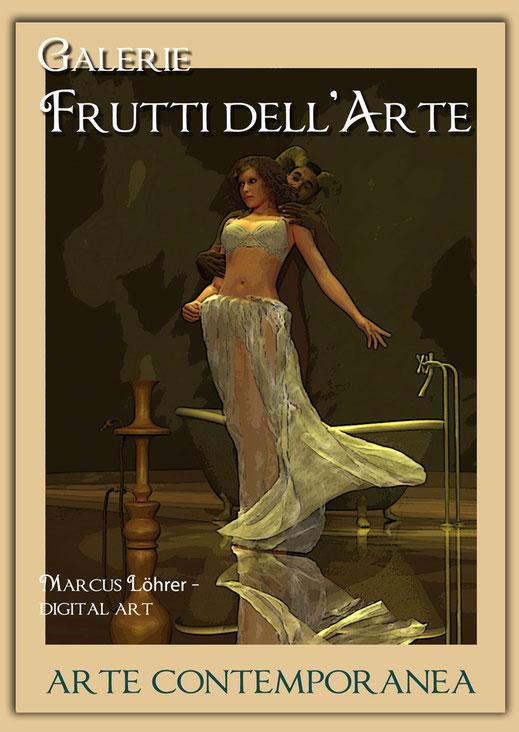 Kunst Mode Satyr und Nymphe in der Galerie Frutti dell'Arte während der Aachener Kunstroute 2016 am 23., 24. und 25. September und in der Ausstellung Spektrum in der Aula Carolina