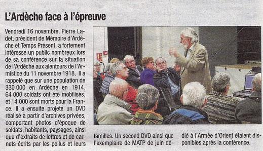 La Tribune, 22 novembre