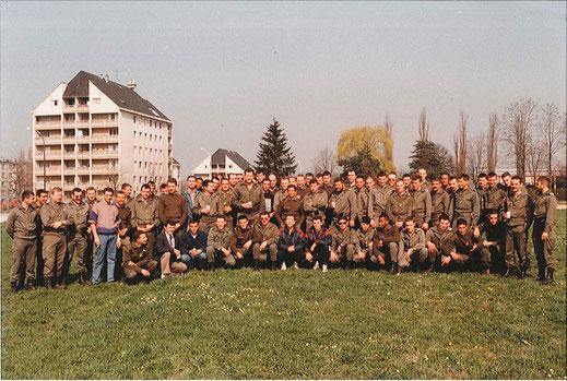 La C.C.S. en 1991 à l'occasion de 3 départs en retraite (debout 3e à g. : SCH PEILLON)