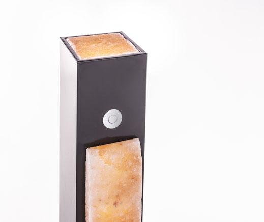 6cm Salzsteine mit elegantem Rand und mit Touch-Dimmer