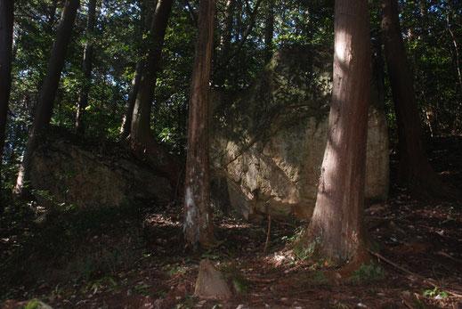 本殿奥の大岩