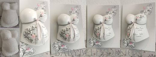 Gipsabdruck vom Babybauch, Babybauchabdruck, Leinwand, Hintergrundbeleuchtung, Baby Foto, Strass, Posamentenborte, Sterne, Babybauchabdruck, BabyBellyDesign, Überarbeitung, Oberflächenglättung