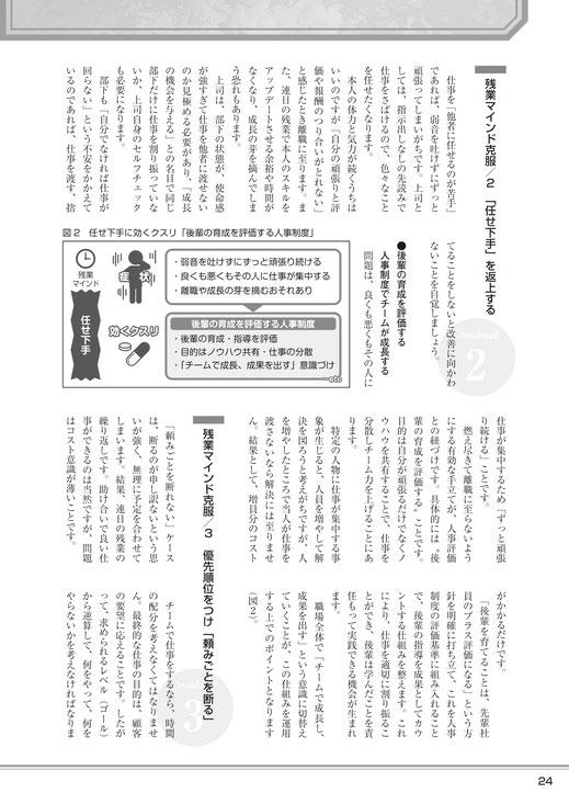 「近代中小企業」5月号(2019年5月1日発行、中小企業経営研究会)「職場で陥りがちな 〝残業マインド〟に効くクスリ」記事no.3
