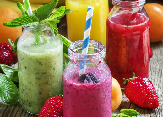 Smoothies mit Alkohol, alkoholische Smoothies, Smoothie Cocktails