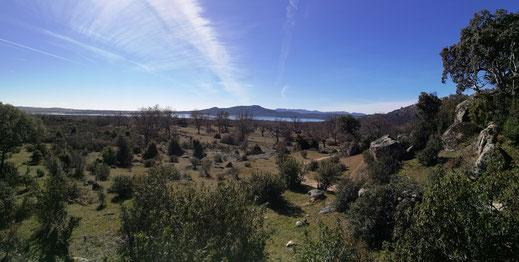 El Embalse de Santillana desde la Dehesa de Colmenarejo
