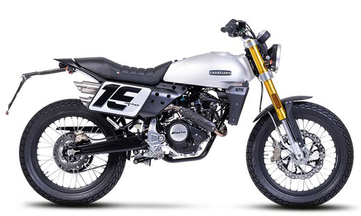 Caballero Flat Track 125 silberne Lackierung