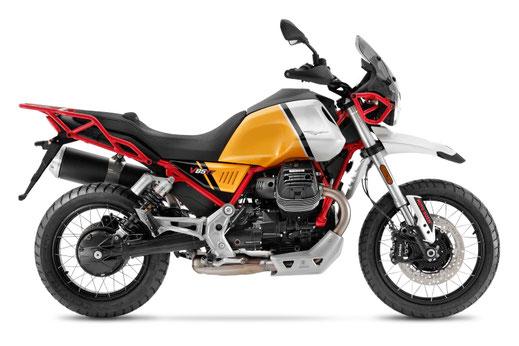 Moto Guzzi V85 TT gelb-weiße Lackierung
