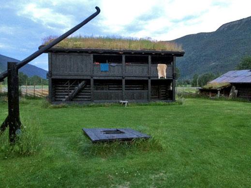 Ein Haus des Jørundgård Middelaldersenter.